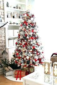 White Xmas Tree Decorations Red Pretty And Decor With Black Touches