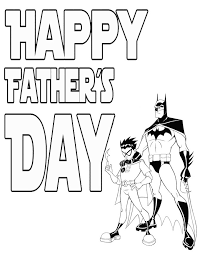 Free Printable Fathers Day Coloring Pages Batman Page