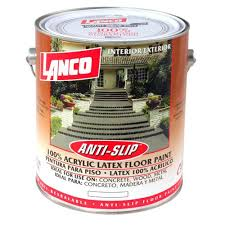 lanco 1 gal anti slip acrylic floor paint flat