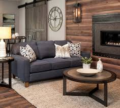 Warm Rustic Small Space Living Room