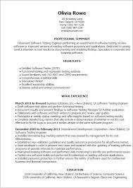 Resume Templates Software Testing