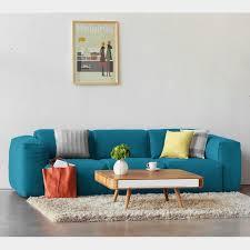 studio copenhagen sofa hudson i türkis webstoff skandi