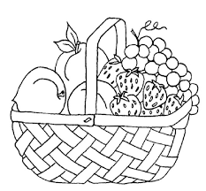 Fruits Basket Coloring Page With Fruit Pages Printable Pagefruit