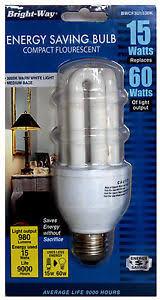 10 cfl 15w light bulb energy saving replacing 60w 120v 60hz 3000k