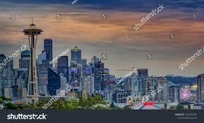 100 Beautiful Seattle Pictures Skyline Mount Rainier Stock Photo Edit Now