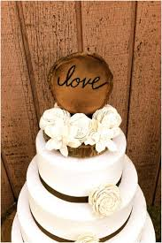 A Wooden Topper And The Soft White Roses Make For Unique Combination Its Like Perfect Mix Of Rustic Feminine Wedding Cake