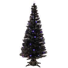 Black Fiber Optic Christmas Tree 7ft by Werchristmas 7 Ft Black Pre Lit Multi Colour Fibre Optic Christmas