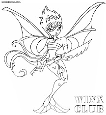 Winx Club Mermaidix Coloring Book Picture To Color