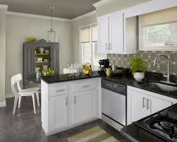 KitchenFuturistic White And Black Kitchens With Yellow Decorations Grey Backsplash On The Walls