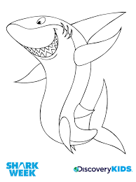 Activity Happy Shark Coloring Page Print