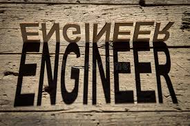 Download Wooden Letters Build The Word Engineer Stock Photo