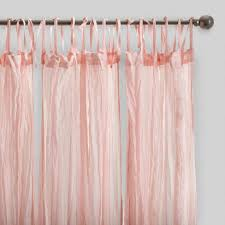 blush pink crinkle cotton voile curtains set of 2 world market