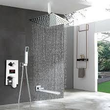 led anzeige duschset bad duscharmaturen wasserhahn duschkopf