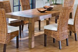 dining room rattan with white cuhsion wicker dining chairs for