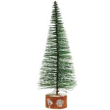 Exquisite Ideas Black Christmas Tree Walmart 9 Frosted Green Bottle Brush Artificial Mini Pine