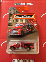 100 Matchbox Fire Trucks Seagrave Engine 1420 Rescue 2019 Case K EBay