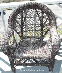 How To Paint Wicker Furniture Spray Paint Wicker Painting Outdoor