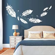 wandtattoo loft federn zum träumen schön feder schlafzimmer wandsticker wandtattoo wandaufkleber 54 farben 3 größen weiß 80 cm hoch x 178 cm