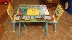 Spongebob Wooden Table With Chairs