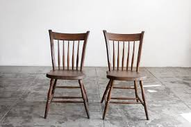 Heywood Wakefield Chair Identification by Sold Pair Of Primitive Early American Spindle Side Chairs