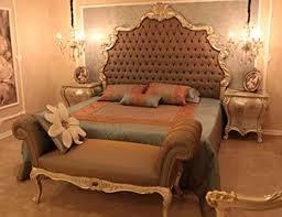 casa padrino barock schlafzimmer set braun silber gold 1