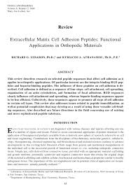 si e orthop ique extracellular matrix cell adhesion pdf available