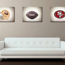 Discount Set Of 3 San Francisco 49ers Photo Printboys Room Decorkids