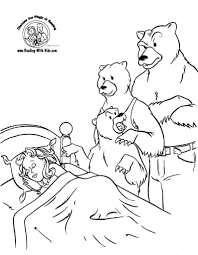 Free Printable Coloring Goldilocks And The Three Bears Page 66 For Pages Adults