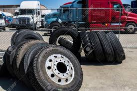 Indianapolis - Circa June 2017: Semi Tractor Trailer Truck Tires ... Heavy Truck Tires Slc 8016270688 Commercial Mobile Tire Sumacher U6708 Stagger Rib Yellow Monster Stadium How To Choose The Right Truck Tires Tirebuyercom Bridgestone How Remove Or Change Tire From A Semi Youtube Nokian Hakkapeliitta E Tyres Michelin Introduces Microchips Make Smart Transport Watch Iconic Bigfoot Gets Change The Amazoncom Bqlzr Black Rc 110 Water Wave Wheel Hub Master Drive Us Company