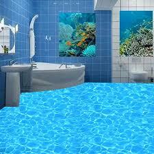nach 3d pvc boden tapete blau kristall funkelnden wasser wandbild für bad wasserdichte anti slip selbstklebende boden aufkleber