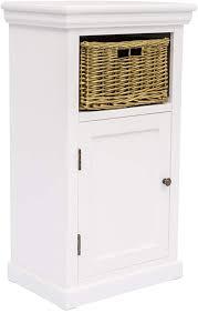 woodkings bad unterschrank bogota holz weiß badschrank mit korb für schmale badezimmer design badezimmerschrank badmöbel kleines bad