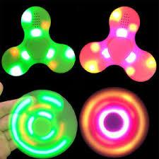 led light bluetooth speaker anti stress fidget spinner gyro