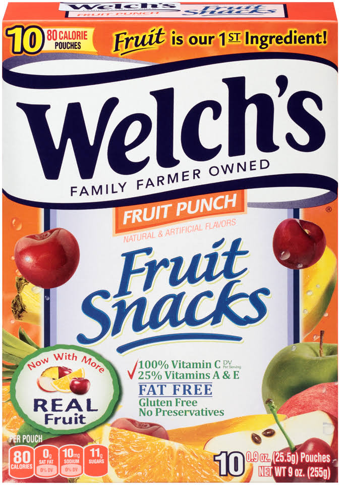 Welch's Fruit Punch Fruit Snacks - 0.9oz, 10ct