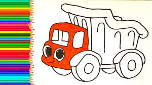How To Draw Dump Truck | Coloring Pages For Kids | Learn Colors ... How To Draw Dump Truck Coloring Pages Kids Learn Colors For With To A Art For Hub Trucks Boys Make A Cake Hand Illustration Royalty Free Cliparts Vectors Printable Haulware Operations Drawing Download Clip And Color Page Online