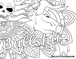 Adult Coloring Page Printable Swear Word By Swearstressaway