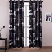 2018 Window Curtain Living Room Printed New York Letters Chinese