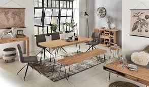 wohnling esszimmer sitzbank bagli massiv holz akazie 180 x 45 x 40 cm design holz bank natur produkt küchenbank landhaus stil dunkel braun bank