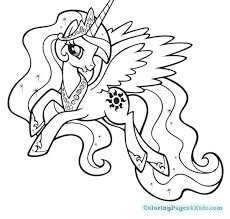 Princess Luna My Little Pony Coloring Page Pages And