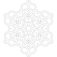 Stunning Snowflake Design Coloring Pages With Snow And White