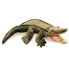Folkmanis Alligator Hand Puppet Useful For Children Who Need To