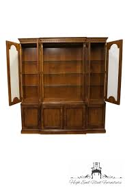 Henredon Breakfront China Cabinet by High End Used Furniture Henredon 18th Century Portfolio Mahogany