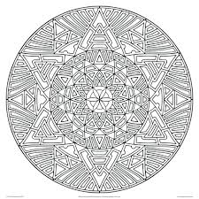 Coloring Pages Geometric Adults Printable Download Animal Mandala Free For Online Pdf
