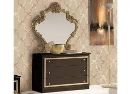 schlafzimmer set barocco 7 teilig in schwarz gold 180x200 cm mit schrank 6 türig
