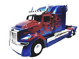 100 Optimus Prime Truck Model Amazoncom Jada Transfomers Blue Red Western Star 5700 XE Phantom