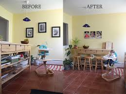 Kitchen Before And After With TIny Prints Metal