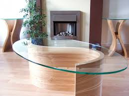 Pair Of Wooden Side Tables Matching Coffee Table With Glass Top
