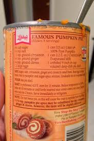 Libbys Pumpkin Bread Kit Instructions by Libby U0027s Pumpkin Pie Mix Directions