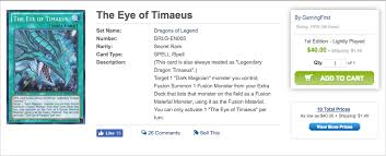 Eye Of Timaeus Deck 2016 by Dragons Of Legend Unleashed Revealed Yu Gi Oh Classics