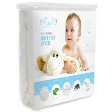 Toddler Bed Mattress Topper by Hypoallergenic Waterproof Quilted Crib Mattress Pad Milliard