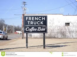 French Truck Coffee Bar Sign, Memphis, Tennessee Editorial Stock ...